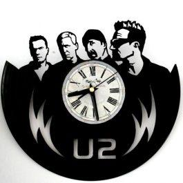 Ceas traforat manual din vinil – U2