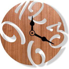 Ceas cifre lemn