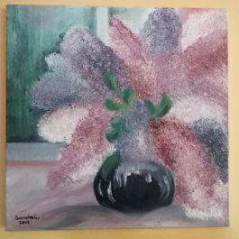 Tablou pictat – Liliac