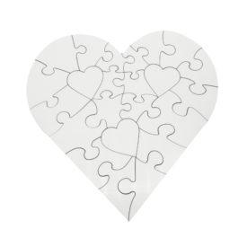 Puzzle inima MDF personalizat