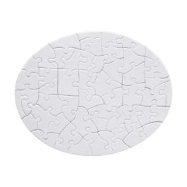 Puzzle oval personalizat