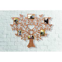 Rama foto din lemn in forma de copac, decupat laser, 370x470mm