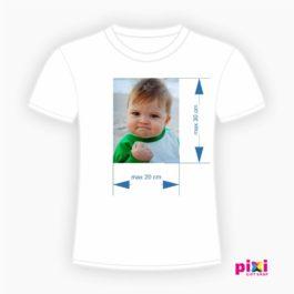 Tricou alb personalizat cu fotografie