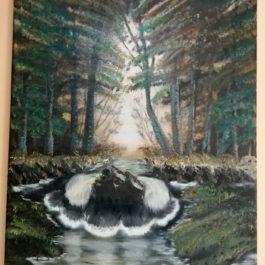 Tablou pictat – Waterfall