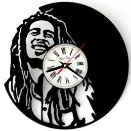 Ceas traforat manual din vinil – Bob Marley