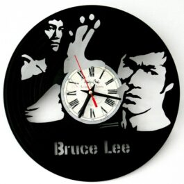 Ceas traforat manual din vinil – Bruce Lee
