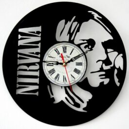 Ceas traforat manual din vinil – Kurt Cobain
