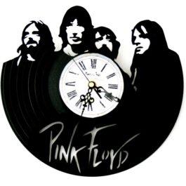Ceas traforat manual din vinil – Pink Floyd