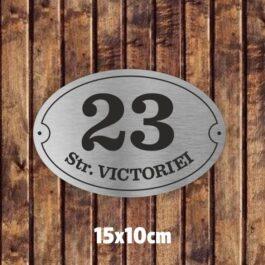 Placuta nume strada si numar 15×10 cm