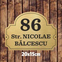 Placuta nume strada si numar 20×15 cm