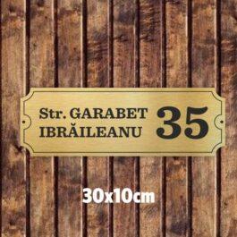 Placuta nume strada si numar 30×10 cm