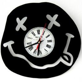 Ceas traforat manual din vinil – simbol Nirvana